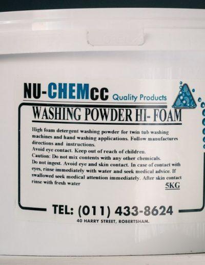 Nu-Hi-Foam Wash Powder 5kg - (Hand Wash)